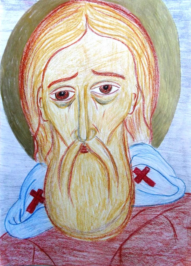 Лицо рисунок святых